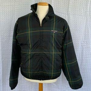 Vintage Polo Sport Down Plaid Bomber Jacket